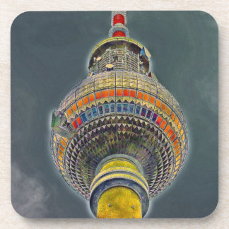 Torre de la TV (Fernsehturm), Berlín, efecto del a Posavaso