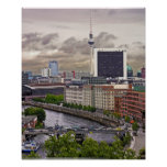 Torre de la TV (Fernsehturm), Berlín, panorámica ( Poster