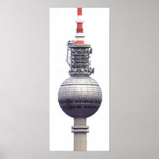 Torre de la TV (Fernsehturm), Berlín, rojo (tv14) Impresiones