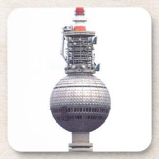Torre de la TV (Fernsehturm), Berlín, rojo (tv14) Posavasos De Bebidas