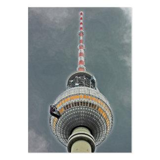 Torre de la TV (Fernsehturm), Berlín (tv2) Tarjetas De Visita Grandes