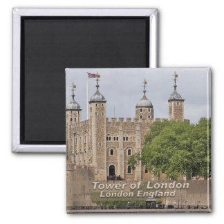 Torre de Londres - Londres Inglaterra Imán Cuadrado