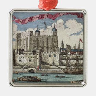 Torre de Londres vista del río Támesis Adornos De Navidad
