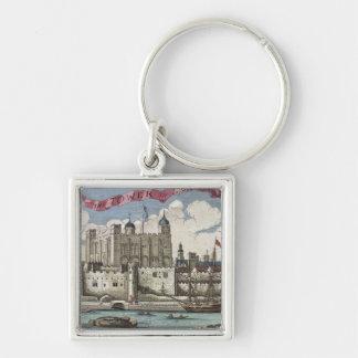 Torre de Londres vista del río Támesis Llaveros Personalizados