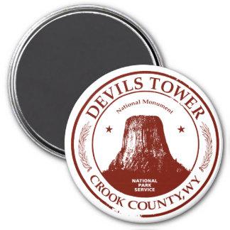 Torre de los diablos imán redondo 7 cm