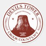 Torre de los diablos pegatinas redondas
