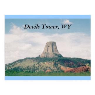 Torre de los diablos postal