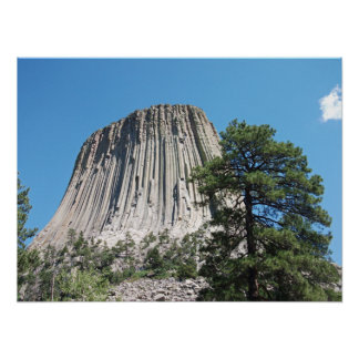 Torre de los diablos, Wyoming Poster
