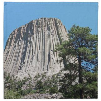 Torre de los diablos, Wyoming Servilletas Imprimidas