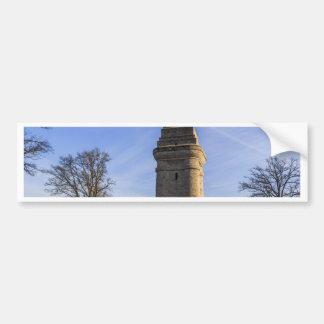 Torre de marco de que hasta pegatina de parachoque