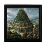 Torre de Marten van Valckenborch- The de Babel Cajas De Joyas