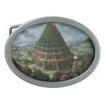 Torre de Marten van Valckenborch- The de Babel Hebilla De Cinturón Oval