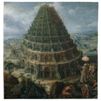 Torre de Marten van Valckenborch- The de Babel Servilletas De Papel