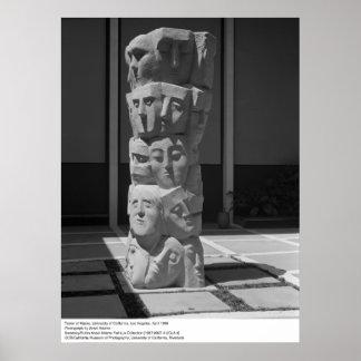 Torre de máscaras, UCLA, 1966 Posters