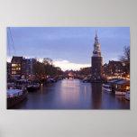 Torre de Montelbaan en Amsterdam los Países Bajos Posters