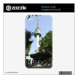 Torre de N Seul Calcomanías Para iPhone 4