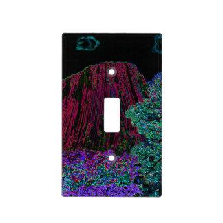 Torre de neón de los diablos del resplandor tapa para interruptor