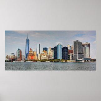 Torre de New York City Skyline/W Fredom Póster