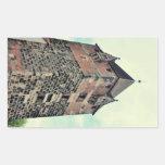 Torre de Nuremberg Rectangular Pegatina