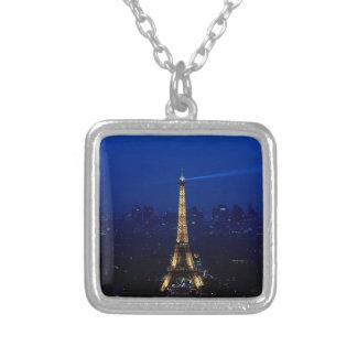 Torre de París Eifel en la noche Colgante Cuadrado