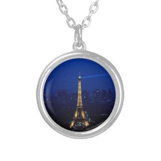 Torre de París Eifel en la noche Colgante Redondo