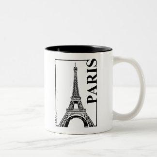 Torre de París-Eiffel Taza Dos Tonos