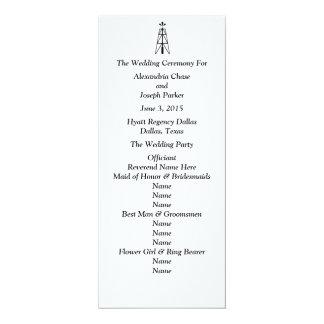 Torre de perforación de aceite que casa el invitación 10,1 x 23,5 cm