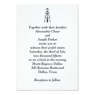 Torre de perforación de aceite que casa la invitación 12,7 x 17,8 cm