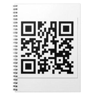 Torre de perforación del código de QR el artista Libreta
