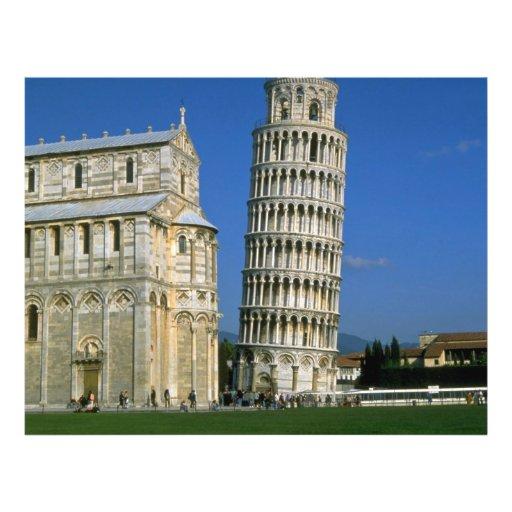 Torre de Pisa, Italia Tarjeta Publicitaria