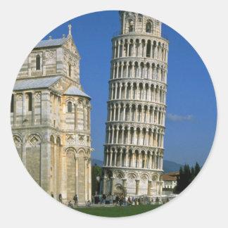 Torre de Pisa, Italia Pegatina Redonda