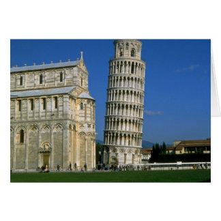 Torre de Pisa, Italia Tarjeta De Felicitación