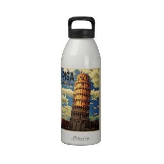 Torre de Pisa ltaly Botella De Agua Reutilizable