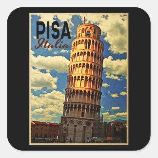 Torre de Pisa ltaly Pegatina Cuadrada