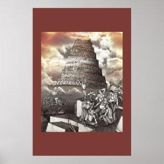 Torre de programación de lenguajes de Babel Póster