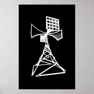 Torre de radio de la sirena posters