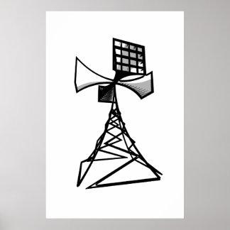 Torre de radio de la sirena impresiones