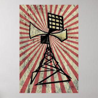Torre de radio de la sirena poster
