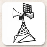 Torre de radio de la sirena posavasos de bebida