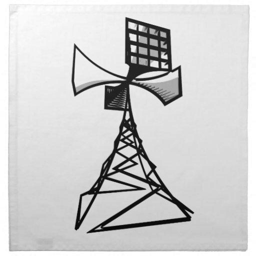 Torre de radio de la sirena servilleta de papel
