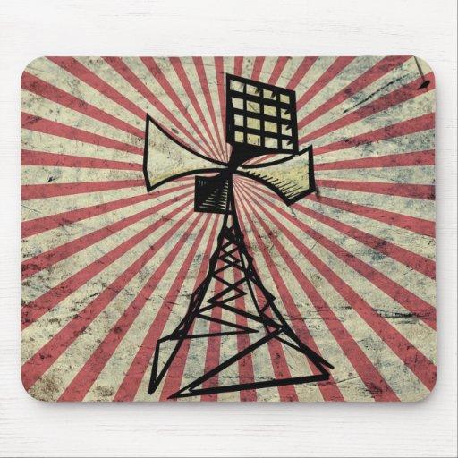 Torre de radio de la sirena tapete de raton