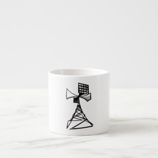 Torre de radio de la sirena taza espresso
