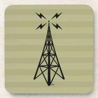Torre de radio retra posavasos