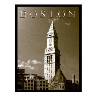 Torre de reloj de aduanas tarjetas postales