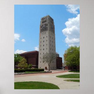 Torre de reloj de Ann Arbor Michigan Impresiones