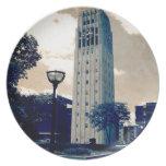 Torre de reloj de Ann Arbor Plato De Comida