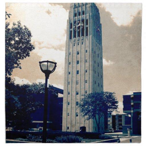 Torre de reloj de Ann Arbor Servilletas