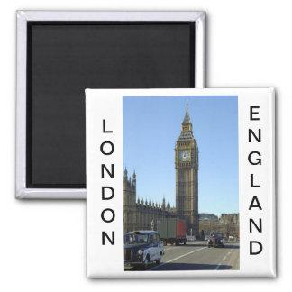 Torre de reloj de Big Ben Londres Imán Cuadrado