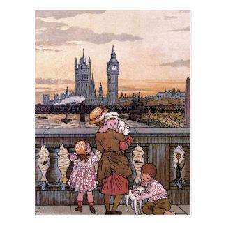 """Torre de reloj de Big Ben, Londres "" Postales"
