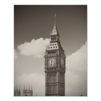 Torre de reloj de Big Ben Poster